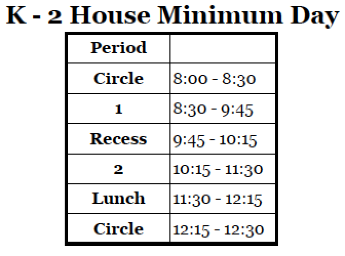 K-2 MinDay Bell Sched 2015-16